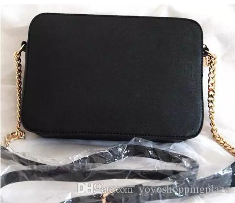 d47b817bf32 designer handbag crossbody Luxury Handbags Purses solid black new leather  handbags gold chain cross body free shipping