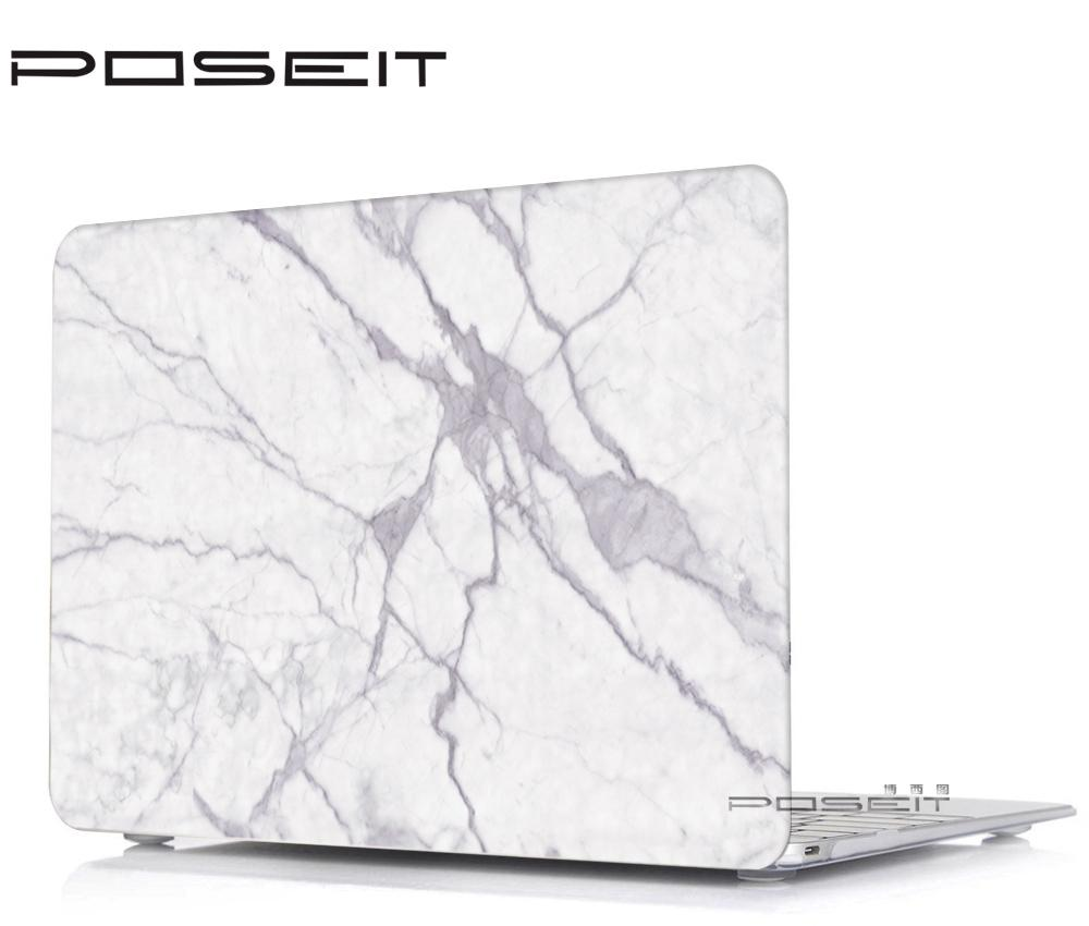 reputable site 3399b d0372 NEW Colored marble pattern Hard Case Cover for Macbook White 13 A1342  MC207/MC516 laptop case