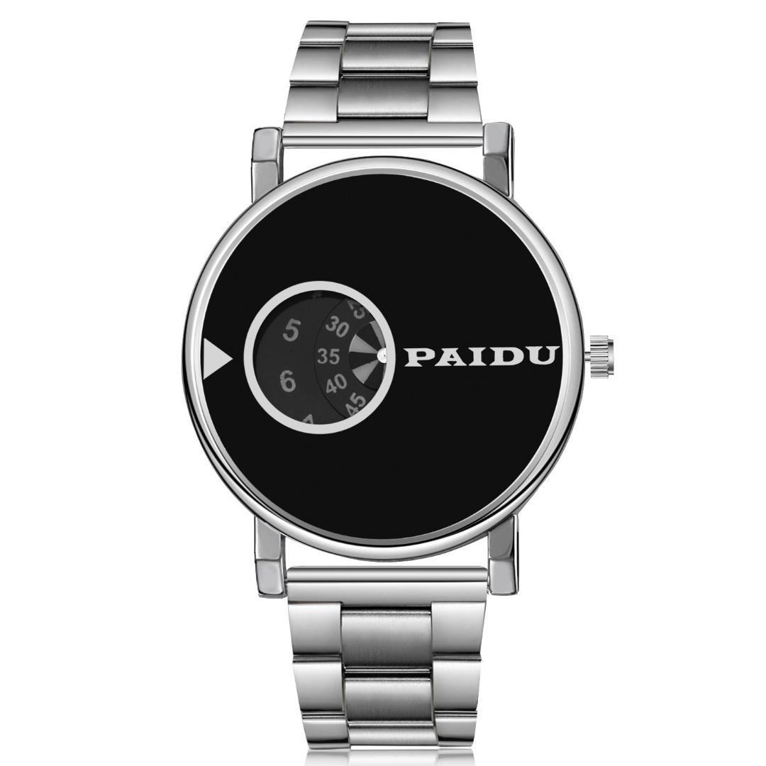 afd0ad37b77a Compre 2018 Paidu Watch Hombres Mujer Moda Lujo Elegante Acero Completo  Señoras Reloj De Pulsera Hombre Reloj De Cuarzo Relojes Relojes De Alta  Calidad A ...