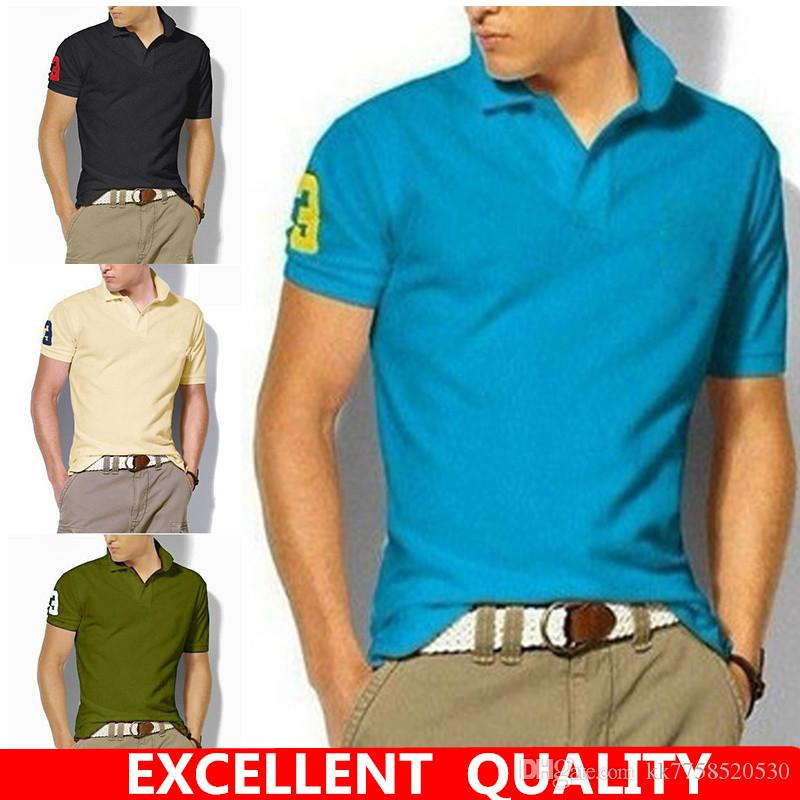 0aae42fea26 Men s Embroidery Polo Shirt Style Summer Fashion Men Lapel Polo ...