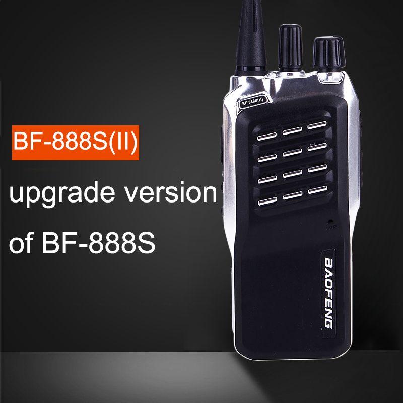 Baofeng BF-888S(II) 400-470MHz UHF Mini Walkie Talkie Long Distance Range  Communication cb Two-Way Radios Upgrade Of BF-888S