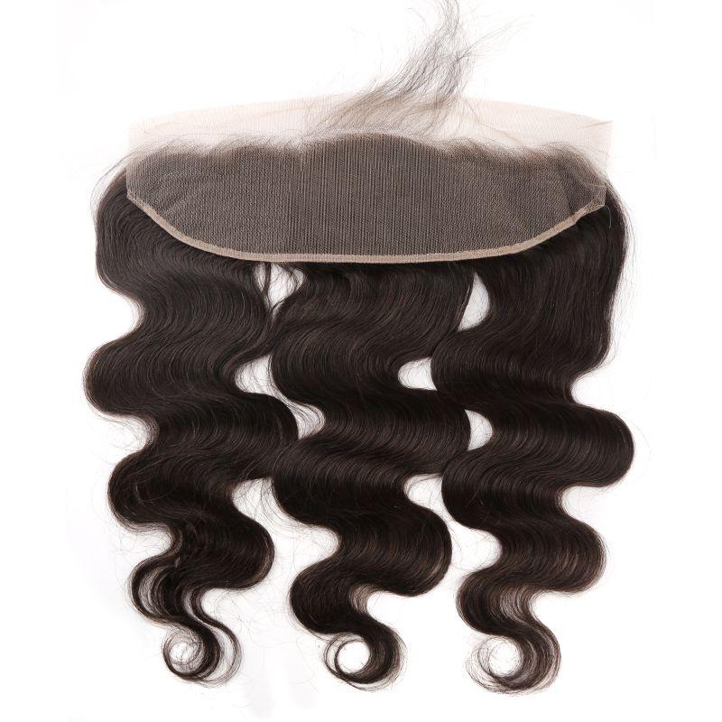 Bella pelo encaje frontal ola onda virgen humano pelo 13x4 mongol brasileño oreja a oreja cierre con cabello bebé color natural nudos blanqueados