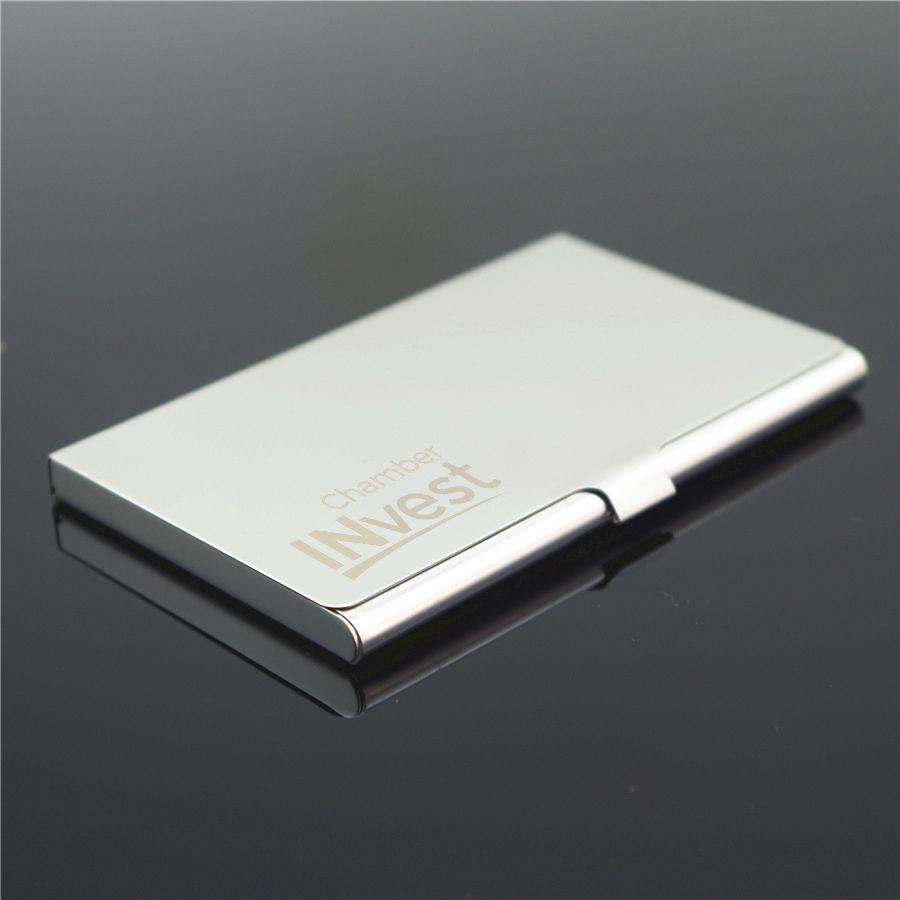 Personalized Metal Business Card Holder Custom Logo Engraved