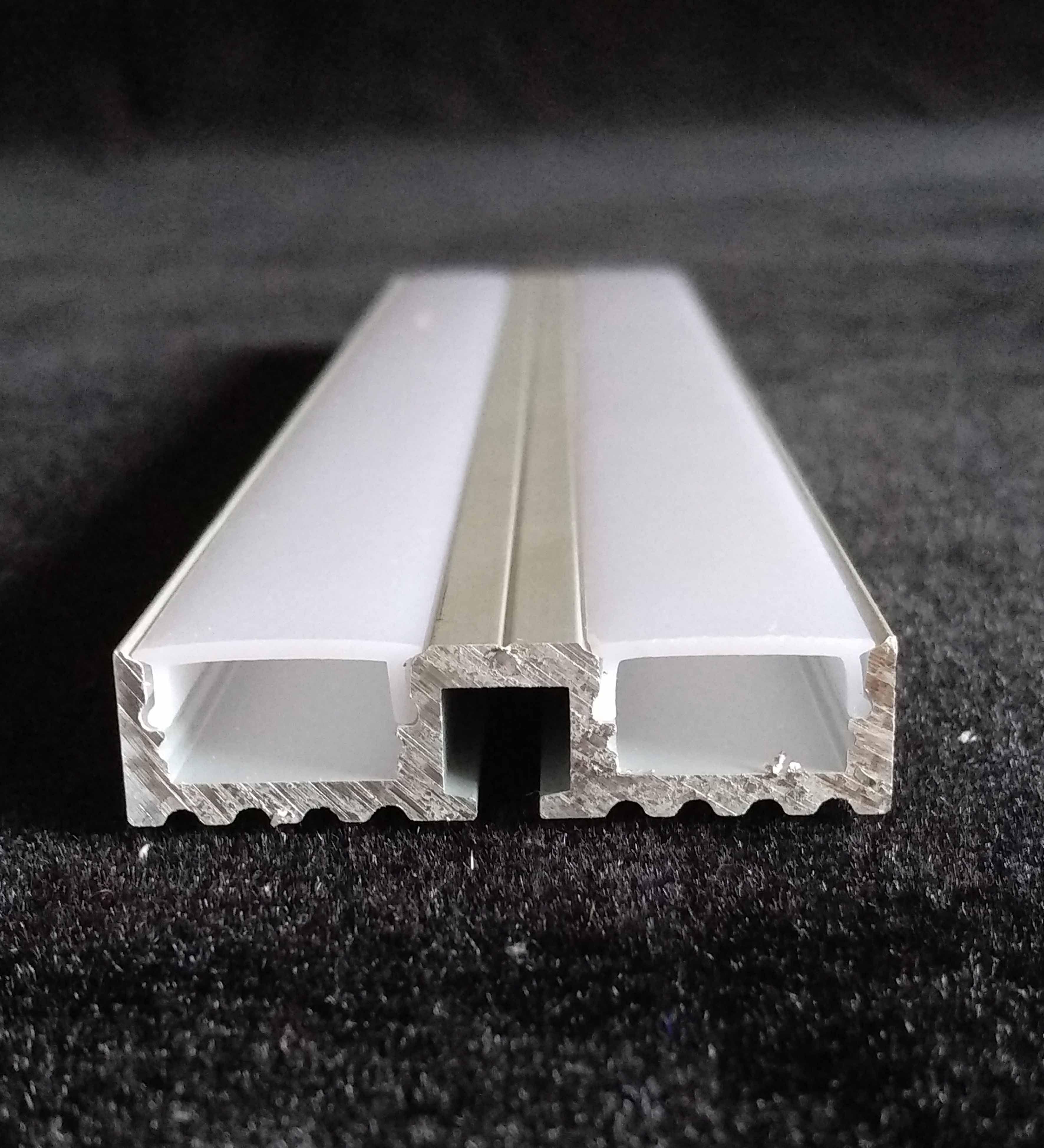 1m Led Aluminium Profile , Dual-Channel LED Aluminium Profile ,and ...
