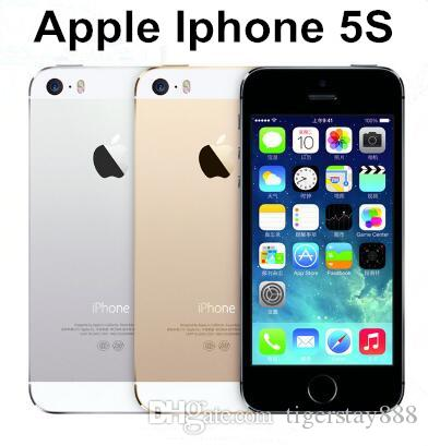 Original Apple iPhone 5S Support fingerprint Unlocked IOS 9 Dual Core  16GB/32GB/64GB ROM 4 0 8MP 1080P WIFI GPS refurbished Cell Phone