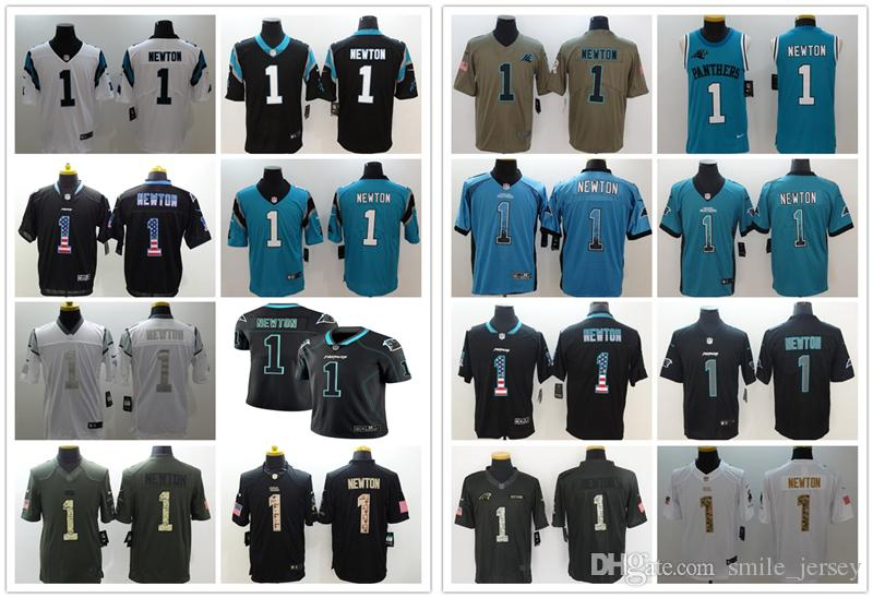 online store fa093 a3837 New Mens 1 Cam Newton Carolina Jersey Panthers Football Jerseys 100%  Stitched Embroidery Panthers Cam Newton Color Rush Football Shirt