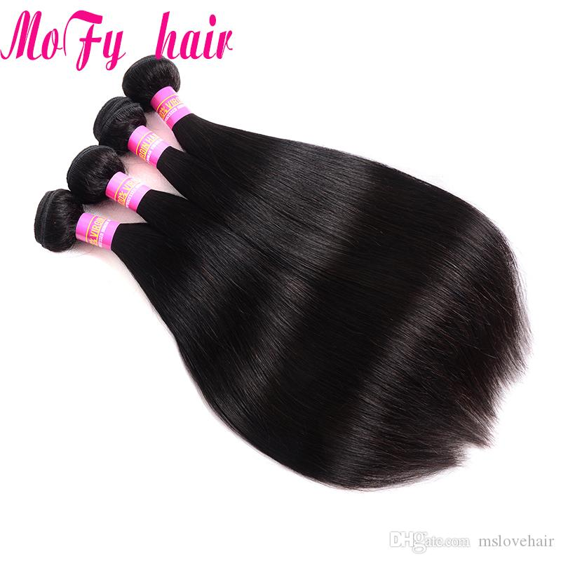 100% Unprocessed Peruvian Malaysian Indian Virgin Human Hair Sliky Straight Natural Black color Double Weft 8-30 inch Human Hair Extension