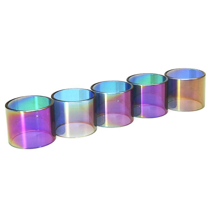 Remplacement de couleur arc-en-verre Tube pour bébé TFV8 X Prince-2ml 3ml Vape stylo 22 TFV8 Big Baby Spirales Brit un Kayfun v3 Kylin Mini RTA