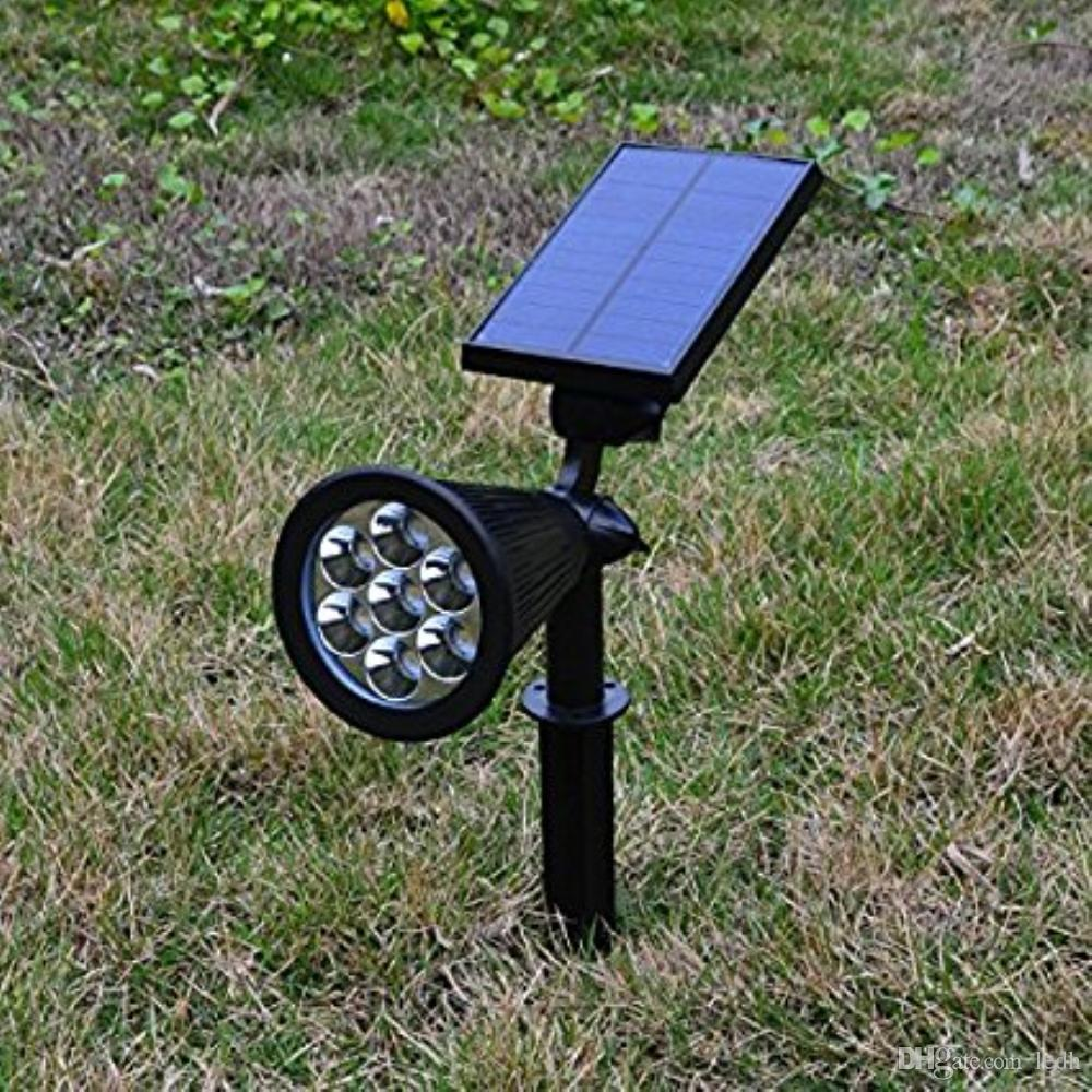 2018 Solar Powered Spot Lights Outdoor 7 Led Multi Color Bright U0026 Dark  Sensor Solar Garden Lights Two Model: Changing U0026 Fixed Waterproof Security  From Ledh, ...