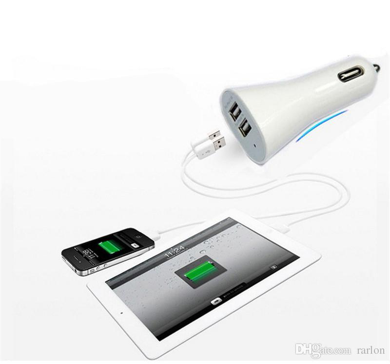 Caricabatteria da auto universale 5V 2.1A 1A Dual USB Car Car Charger adattatore iPhone Xs max X Samsung Galaxy S10 DHL spedizione gratuita
