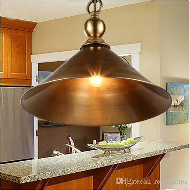 Svitz Antique Brass Pendant Lamps Retro Bar Light Rustic Vintage