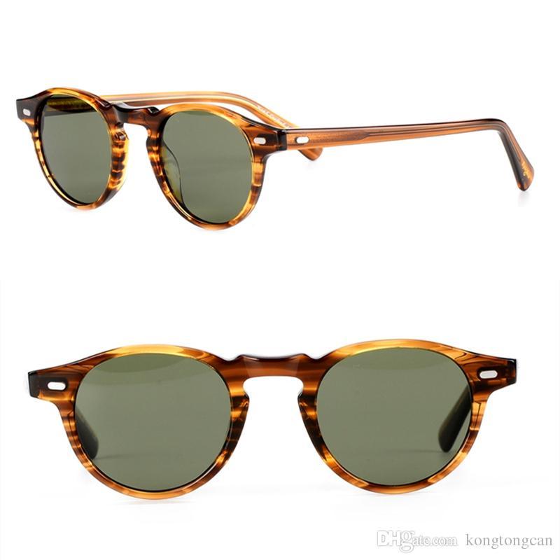 outlet 87a82 3d5f8 Upgrated vesion Oliver peoples OV5186 quality vintage retro sunglasses  women man brand design round fashion polarized lens original box case