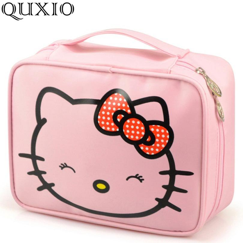 ab37427afe 2019 Hello Kitty Woman Cosmetic Bags Cartoon Travel Toiletry Letter Pattern  Necessary Organizer Makeup Bag Storage Beauty Bag TS105 S923 From Ruiqi10