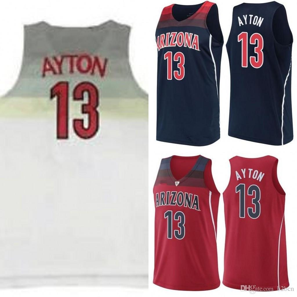 ... best price 2018 ncaa arizona wildcats 13 deandre ayton jersey navy blue  red white college basketball 21f59726a