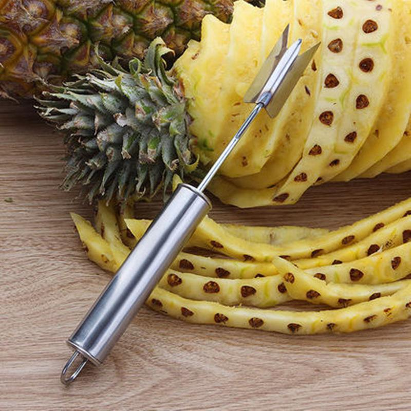 High quality V-shaped pineapple peelers knife Pineapple Corer slicers easy cutter Fruit Salad Tools kitchen accessories