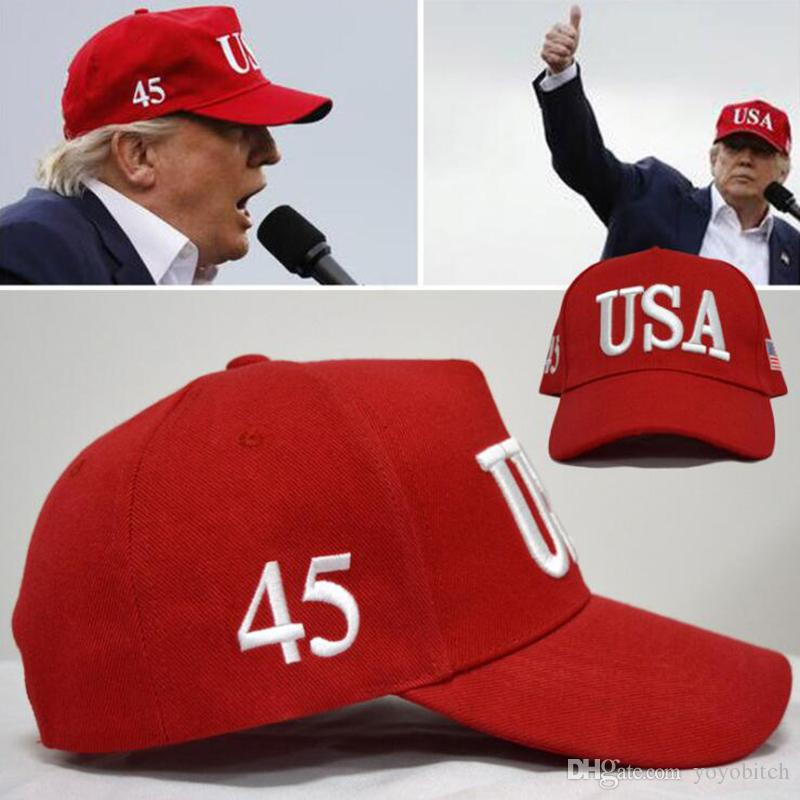 0187f0bdaa4 USA Donald Trump President 2020 Make America Great Again USA Embroidery  Baseball Caps Men Women Snapback Men Hats Zephyr Hats From Yoyobitch