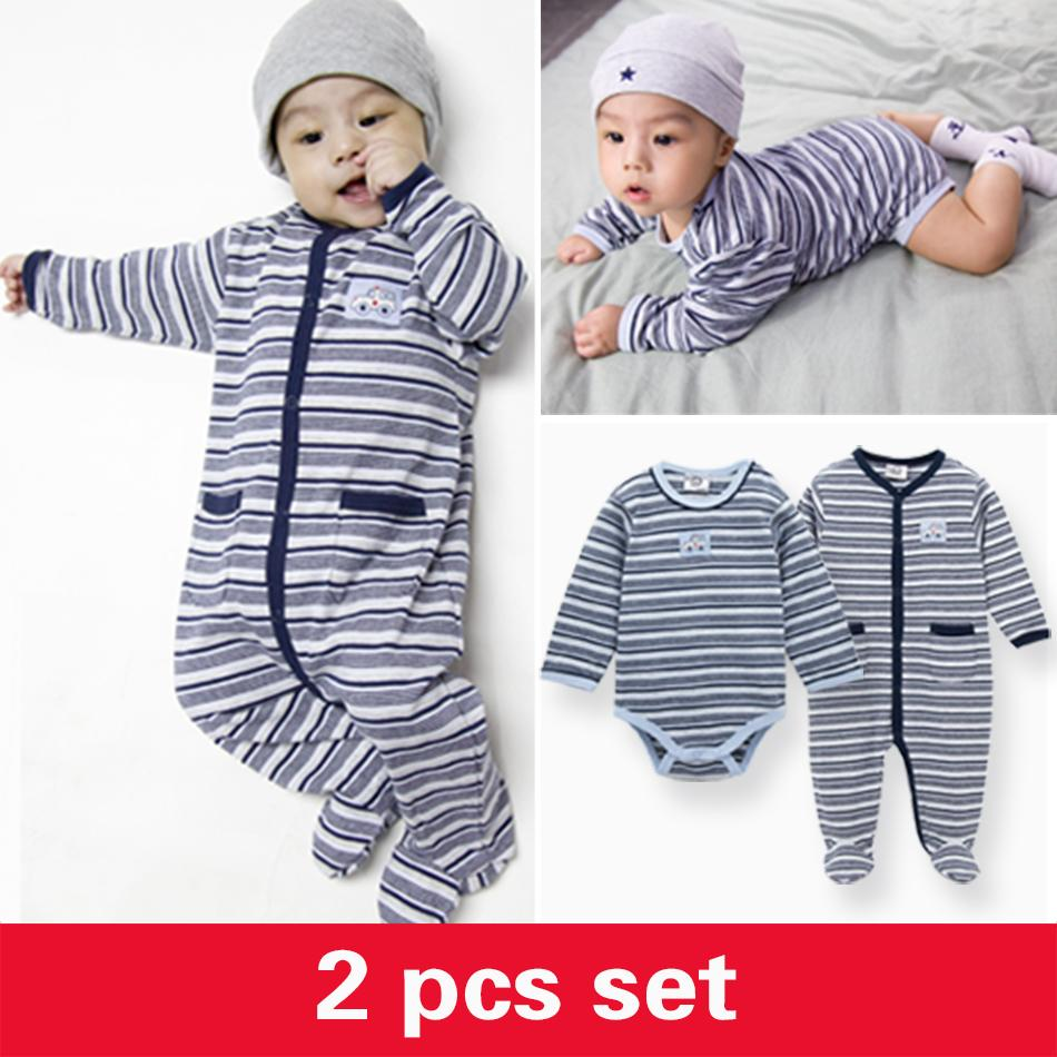 f427d8bd82f3 2019 2018 Winter Wear Baby Boy Body Suits Clothing Infant Stripe Rompers  Coveralls Long Sleeve O Neck Newborn Baby Jumpsuit Overalls From Luckyno
