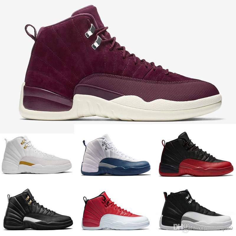 662df6fa76c High Quality 12 Men Women Basketball Shoes 12s White The Master French Blue  Playoffs Red Suede Wolf Grey Sneakers With Shoes Box Sports Shoes For Women  Low ...