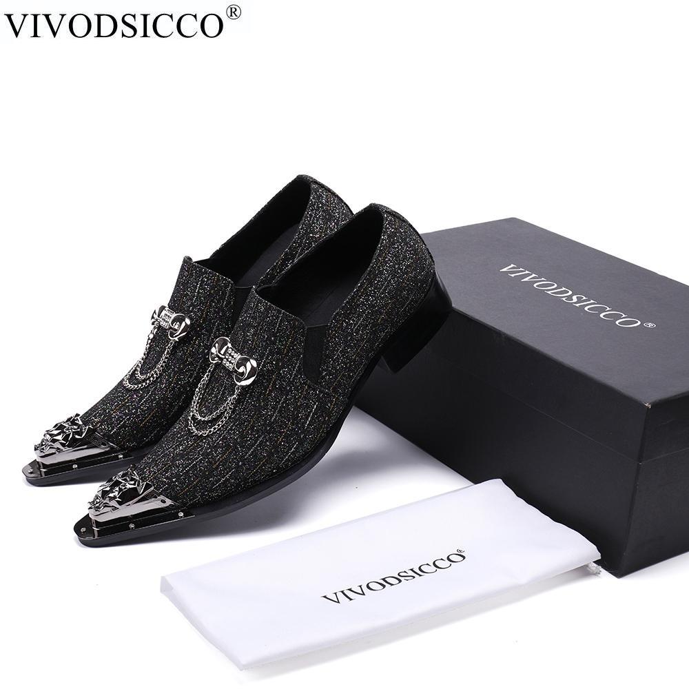 519b1bf89 Compre VIVODSICCO Novos Homens De Negócios Sapatos De Vestido De ...