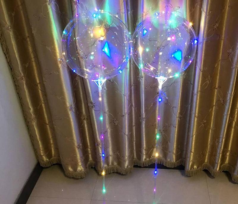 Nouveau Lumineux LED Ballons Avec Bâton Géant Lumineux Ballon Illuminé Ballon Enfants Jouet Fête D'anniversaire De Mariage Décorations