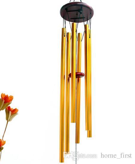 İnanılmaz Grace Derin Rezonans Antik Metal Ahşap 6 Tüp Windchime Şapel Bells Rüzgar Çanları Ev Süsleme El Sanatları Hediyeler