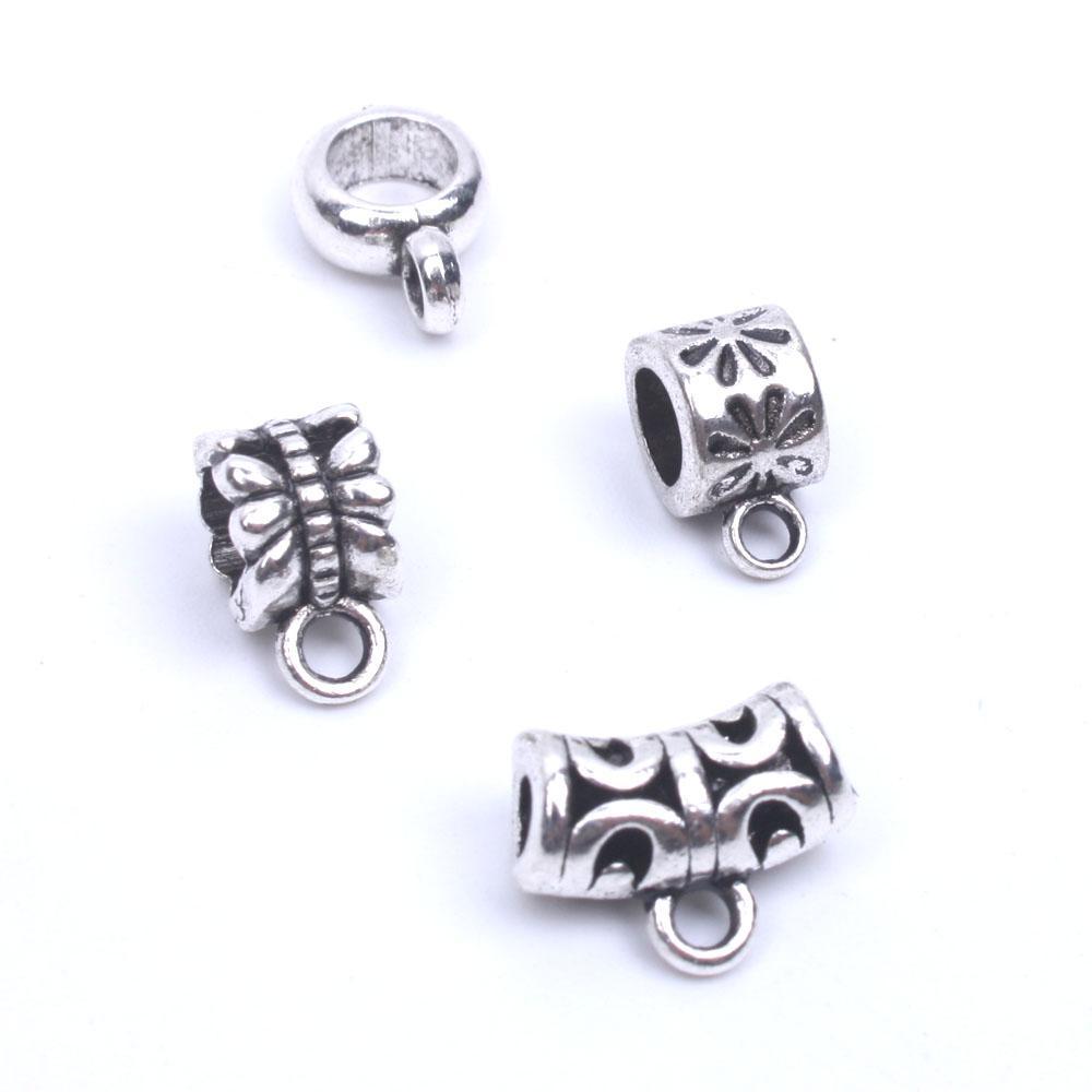 407f79849bdf Granos del agujero de Europa perlas de plata tibetanas perlas de metal  espaciador para la fabricación de joyas suministros de metal al por mayor  24 ...