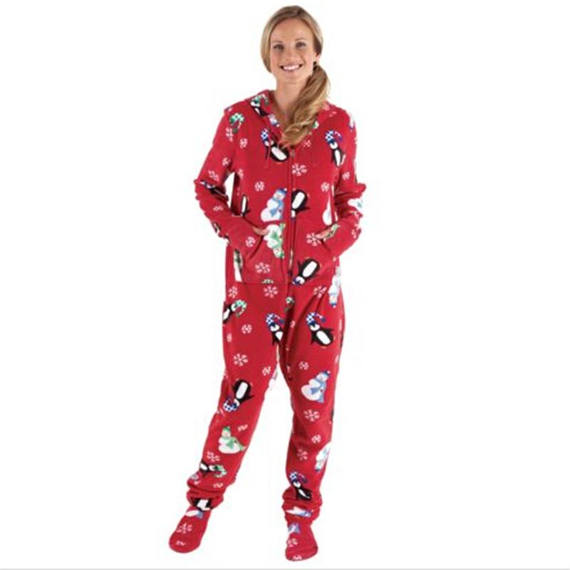 가족 일치하는 크리스마스 잠옷 세트 크리스마스 여성 남자 아기 아이 후드 잠옷 Nightwear 2017 새로운 가족 일치 인쇄 잠옷 세트