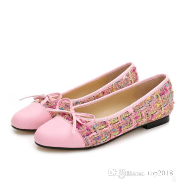 56b18404482d Women Ballet Flats Top Quality Noble Luxury Sexy Velvet Woolen Genuine  Leather Classic Cute Simple Ladies Fashion Brand Casual Shoes Platform Shoes  Prom ...