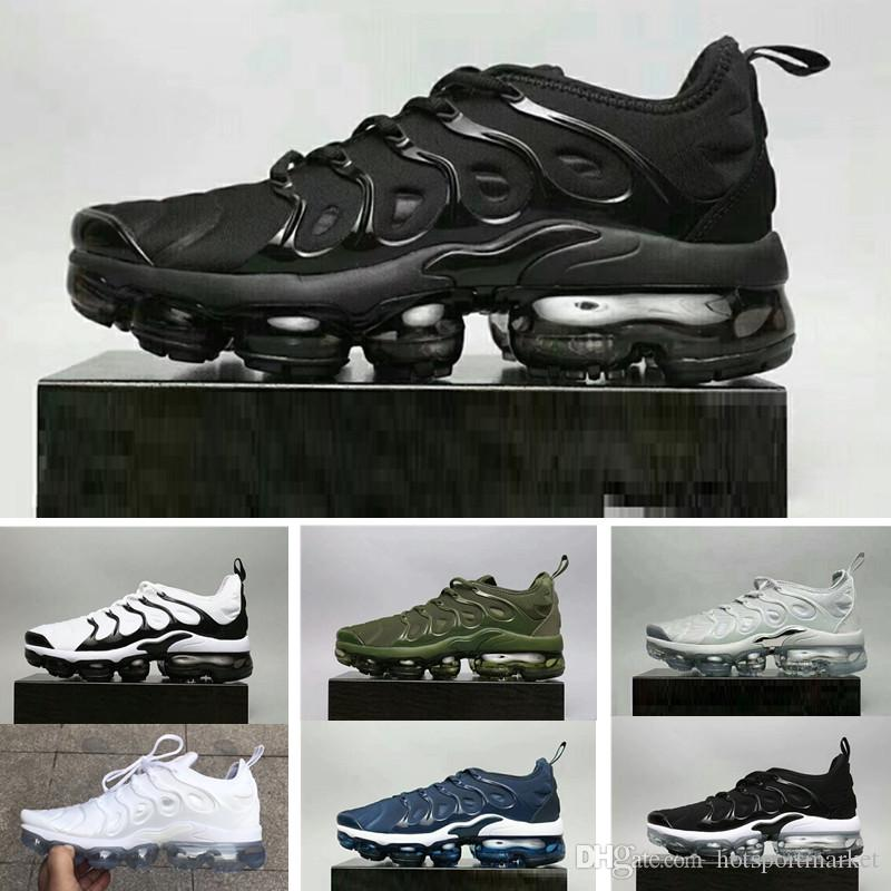 2018 NEW Vapormax TN Plus Olive In Metallic White Silver Colorways Shoes Men Shoes For Running Male Shoe Pack Triple Black Mens Shoes for nice cheap online low shipping fee online Mjd11Cx
