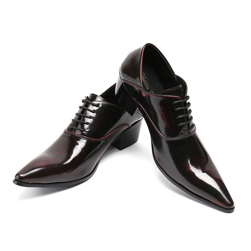 compre zapatos de vestir para hombres de tacones altos zapatos de