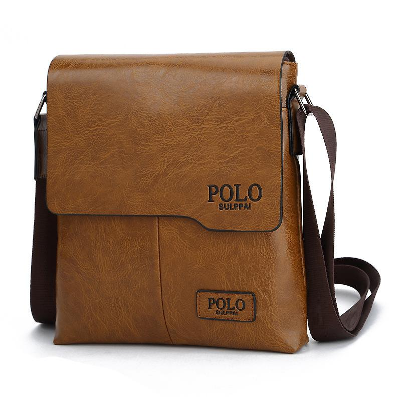 8fa8449532 POLO Sulppai 2018 New Designer Business Style Men Bag Casual PU Leather  Men S Cross Body Messenger Bag Handbags Bags From Whataver