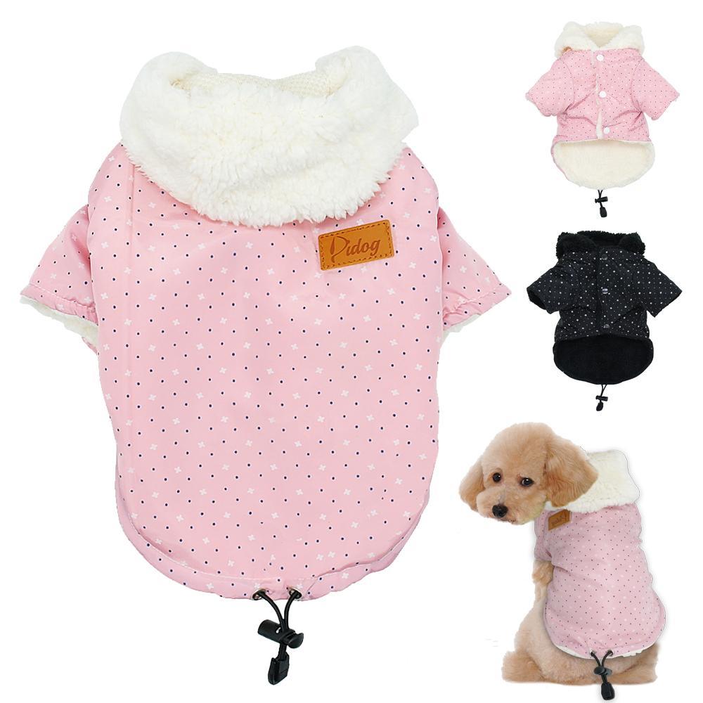 Compre Inverno Quente Roupas Para Cachorro Pequeno Cão Casaco Com Capuz  Gato Filhote De Cachorro Chihuahua Yorkie Pet Roupas Para Cães Ropa Para  Perros ... 082aa4a544d2d