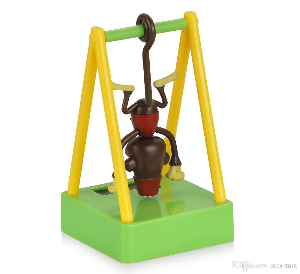 سيارة زخرفة abs سوينغ القرد الشمسية بدعم سيارة لوحة الديكور حلية لطيف ديكور المنزل الأطفال أطفال لعبة هدية الملحقات