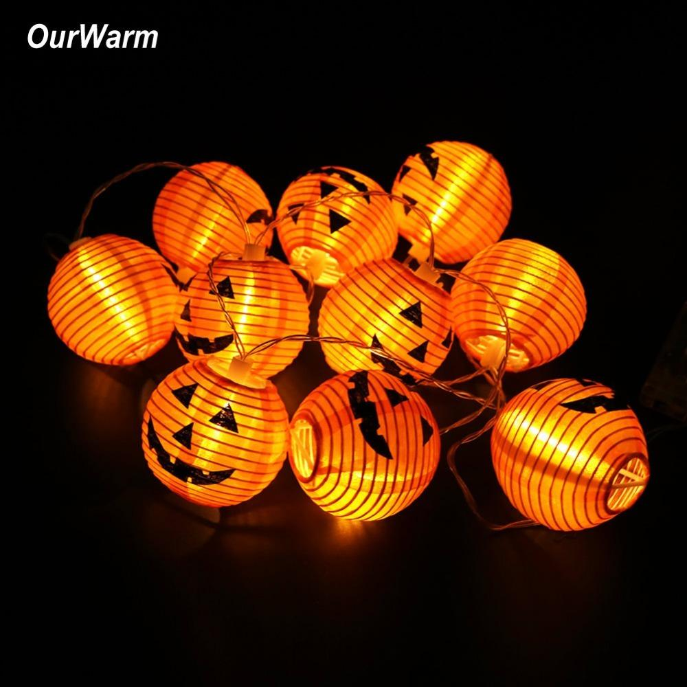 2019 Ourwarm Halloween Pumpkin String Lights 3d Pumpkin 10 Led 1 2m