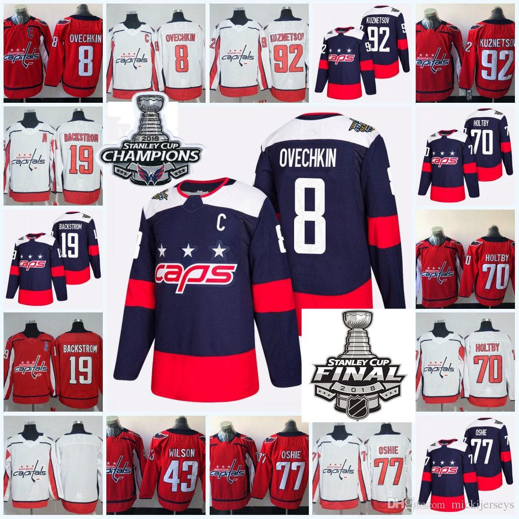 d486a7b2b48 ... closeout mens washington capitals alexander ovechkin 2018 stanley cup  champions jersey nicklas backstrom braden holtby evgeny