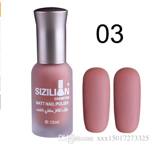 Women Pro 12ml Matte Dull Nail Polish Fast Dry Long Lasting Nail Art ...