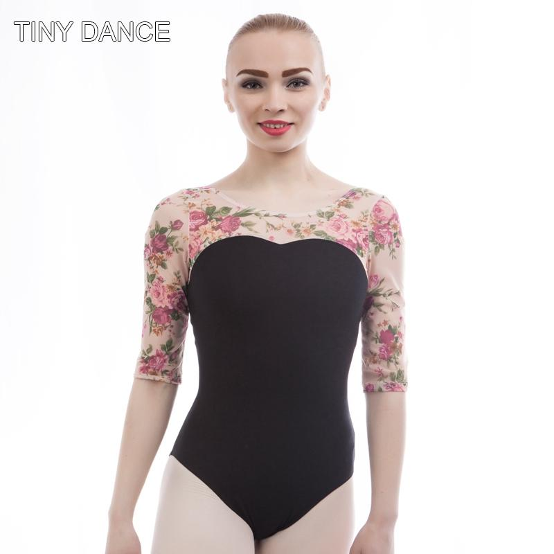 3460d32633a2e7 2019 Adult Mid Sleeve Ballet Dance Wear Lace Leotard Girls Cotton Leotard  For Practice Plus Size Latin Dancing Leotards 01D0020 From Sandlucy