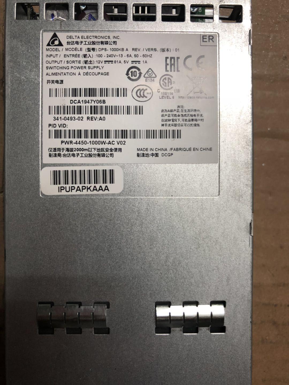 alimentation de serveur de haute qualité pour PWR-4450-POE-AC / C3K-PWR-300WDC / C3K-PWR-300WAC