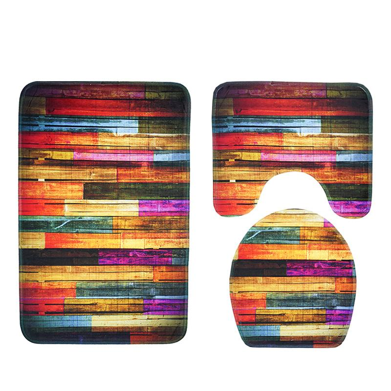 2019 2018 New Bathroom Mat Sets Color Board Printing Modern Bath
