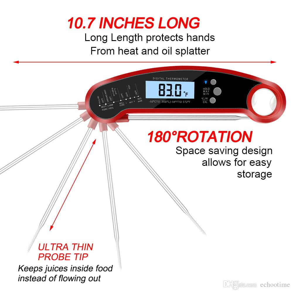 Hot Selling Food Meat Thermometer for BBQ Gril Digital Best Waterproof  Instant Read Thermometer with Calibration Food Thermometers