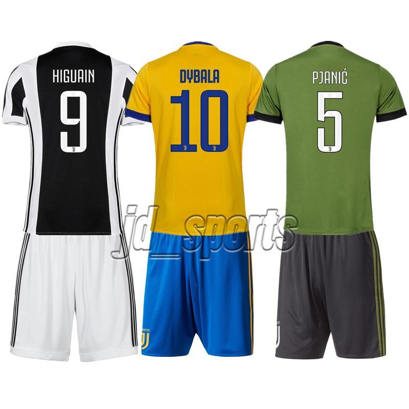 classic fit 765aa 287a2 2017-18 Juventus Higuain Costa Dybala Pjanic Adults futbol Camisa Set  Soccer Jerseys Football Camisetas Shirt Kit Maillot Serie A Juve