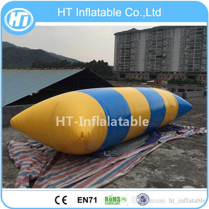Lake Inflatable Floating Water Toys Game ,Inflatable Water Jumping Blob Pillow Catapult Blob On Water Aqua