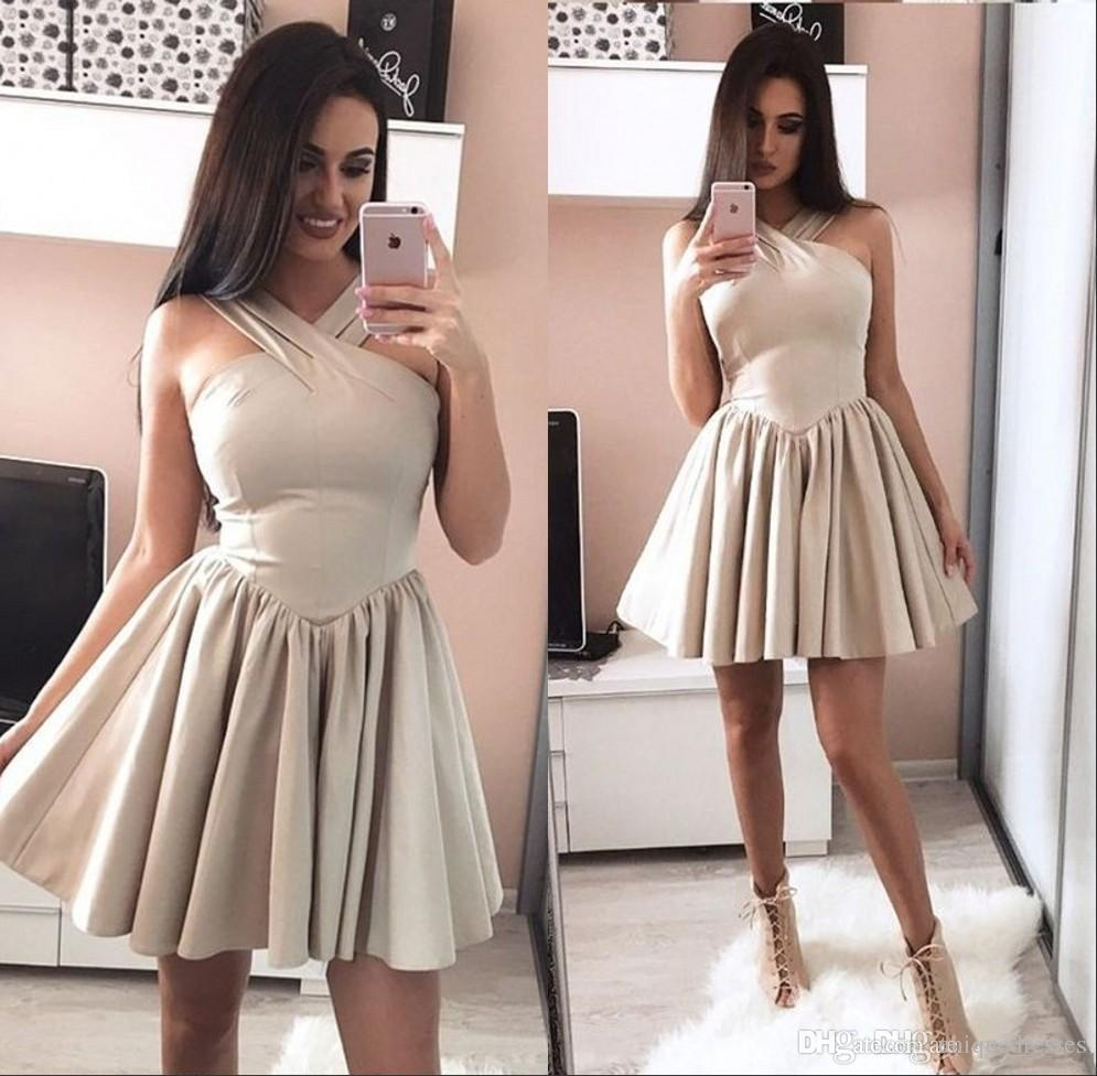 New Arrival Short Homecoming Dresses 2018 Cheap A Line Mini Prom Party Wear Cocktail Dress Plus Size