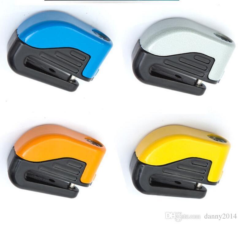 Segurança da motocicleta bicicleta alarme bicicleta fechaduras bloqueio Alarme Brake Disc resistente roda Trava de Segurança com bateria e chave