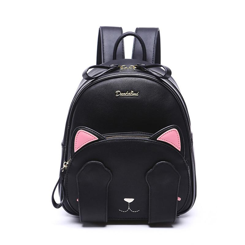 3625b8b1302 Clearance Cat Ear Backpack Black Preppy Style School Backpacks For Teenage  Girls College Style Casual Backpack Sac Mochilas Waterproof Backpack Kids  ...