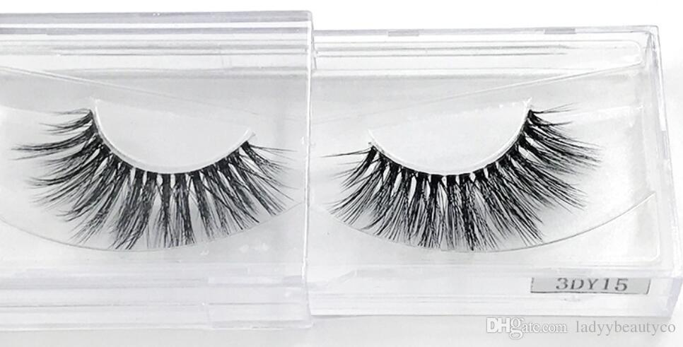 y15-3D Lashes New Arrival 3D Silk Lashes Eyelashes Natural 3D Soft Silk ProThick Long Lash False eyeLashes Handmade Eyelash Extension Makeup