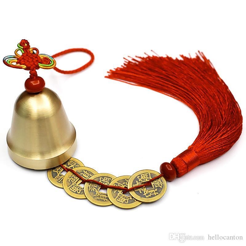 Großhandel Feng Shui Wind Bell Mit Feuer Kaiser Münzen String Zu
