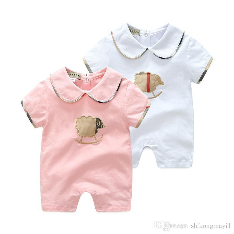 d4c364e739a Retail High Quality Lapels Baby Rompers Summer Baby Boy Girl ...