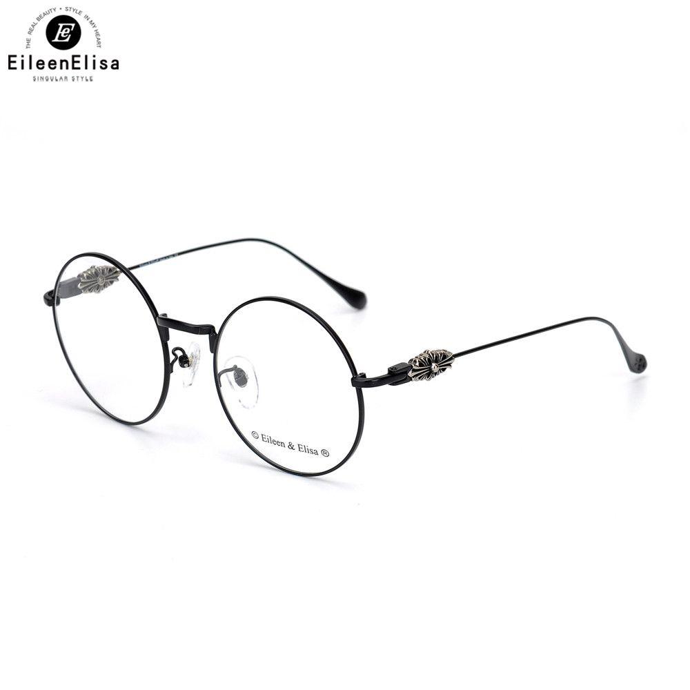 1eaf8b1b59930 Compre EE Moda Mulheres Óculos De Armação Rodada Óculos De Armação Do  Vintage Oversize Eyewear Liga Mulheres Marca Óculos De Olho De Bojiban, ...