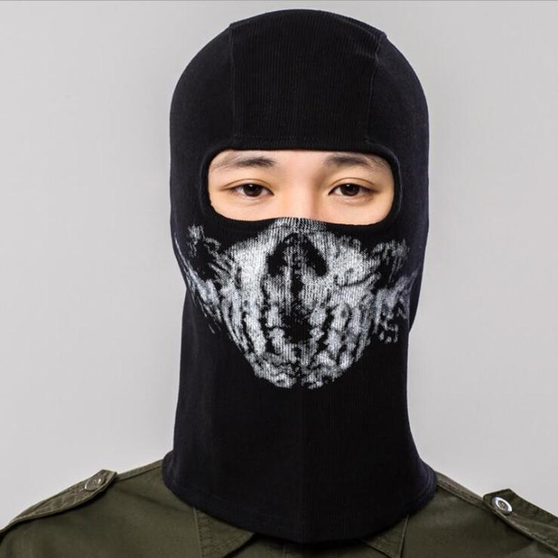Q1009 free shipping Hallowmas CS Cycling Training Keep warm Mask Skull Neck Full Face Mask Riding Hat Scarf Protect Sports